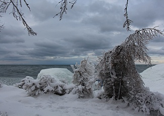 Baikal in December. Buryatia